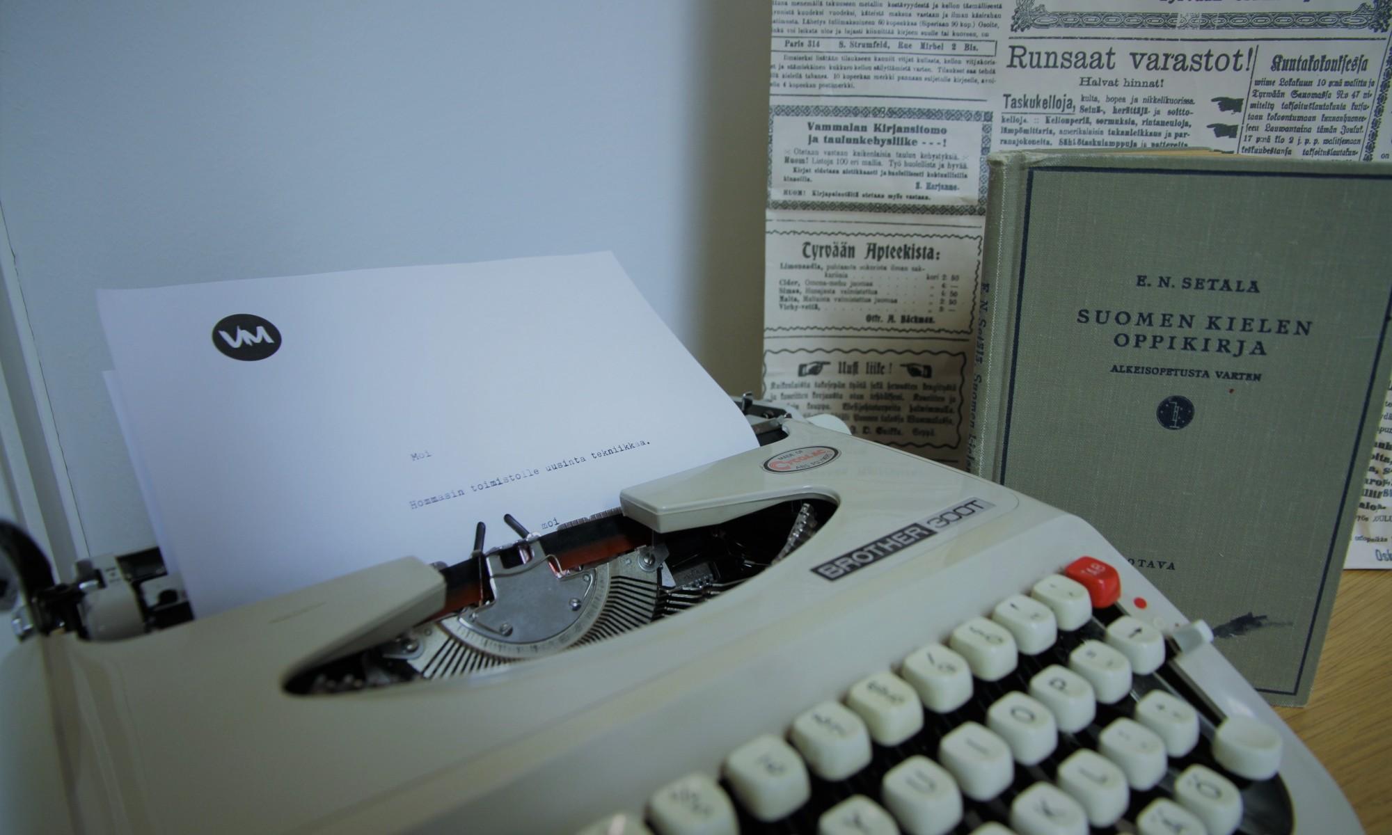 kirjoituskone suomen kielen oppikirja